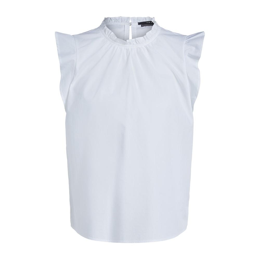 Set Feminine Top with Ruffles in White White