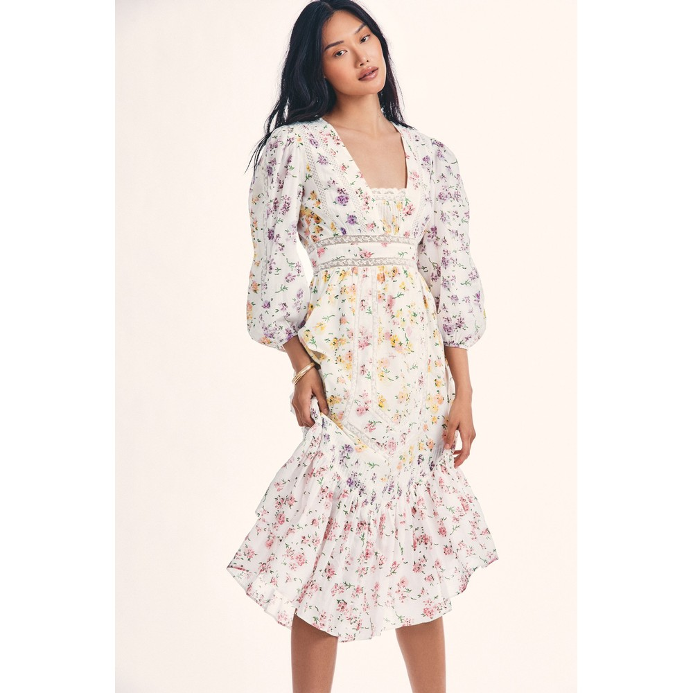 LoveShackFancy Garrison Dress in Fruit Bliss Multicoloured