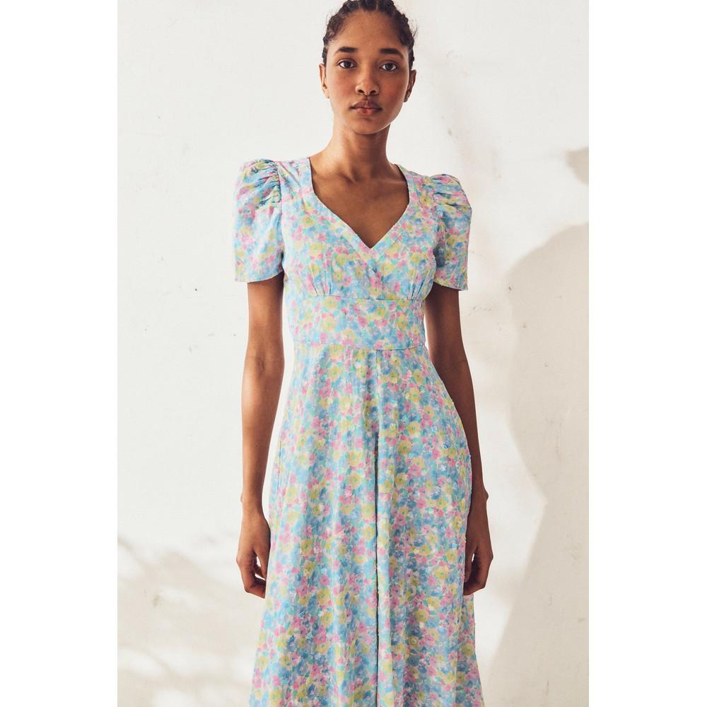 LoveShackFancy Hutchinson Dress in Rainbow Blast Blue