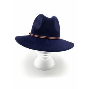 Camilla King Fedora Hat in Navy