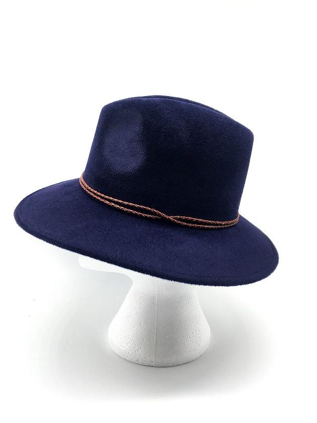 Camilla King Fedora Hat in Navy Navy