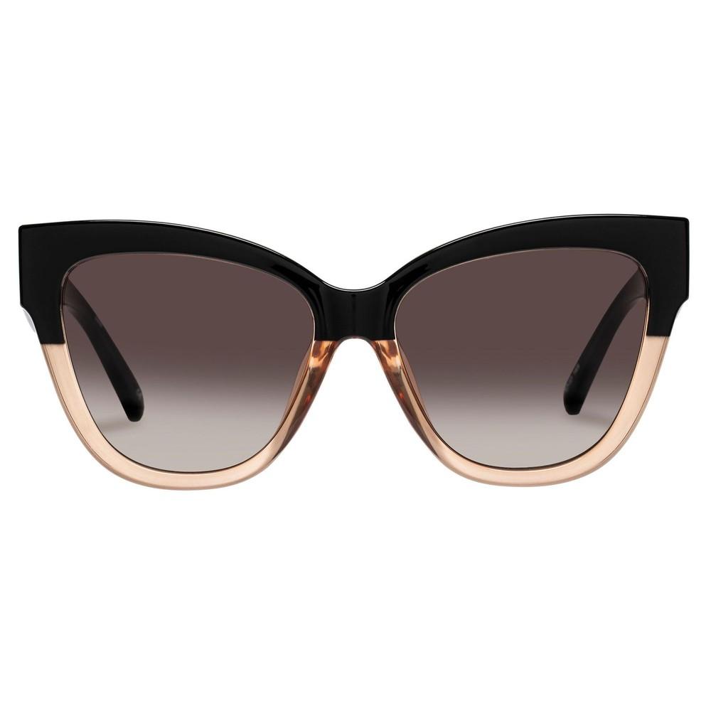 Le Specs Le Vacanze Sunglasses in black blond splice /gold Camel