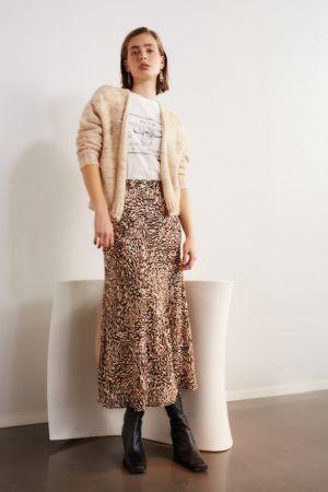 Set Animal Printed Skirt Multicoloured