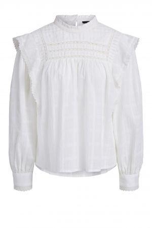 Set Cotton Ruffle Blouse White