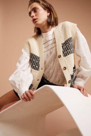Set Knitted Vest White
