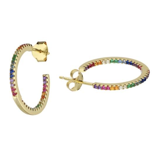 Sophie Lis Calypso Rainbow Hoops Gold