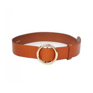 Frame Denim Le Circle Belt in Black in Brown
