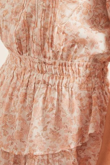 LoveShackFancy Natasha Dress in Vanilla Foam Beige