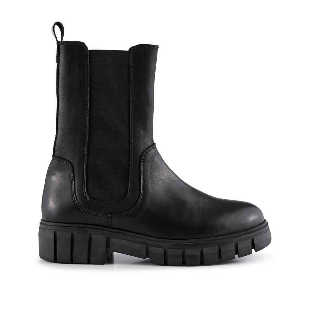 Shoe The Bear Rebel Chelsea High Leather Boot Black