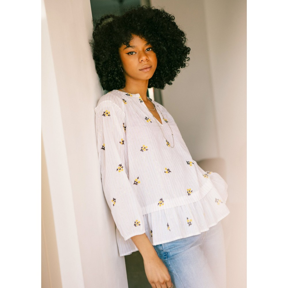 Pyrus Janis Top White, Silver and Gold