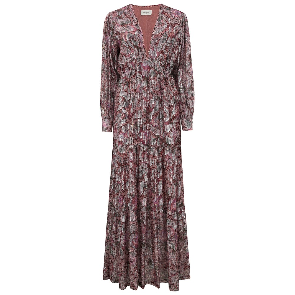 Berenice Rym Dress in Pink Midnight Metallic