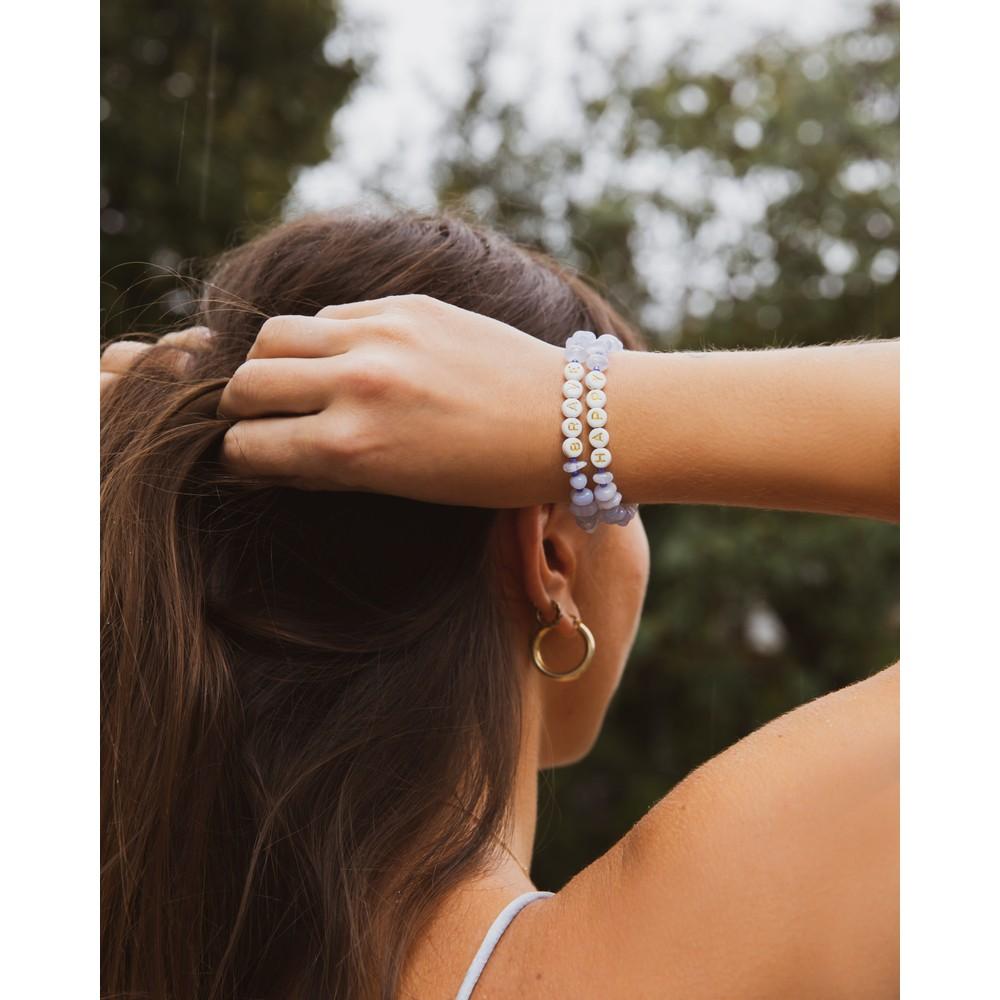 TBalance Happy Crystal Healing Bracelet Blue
