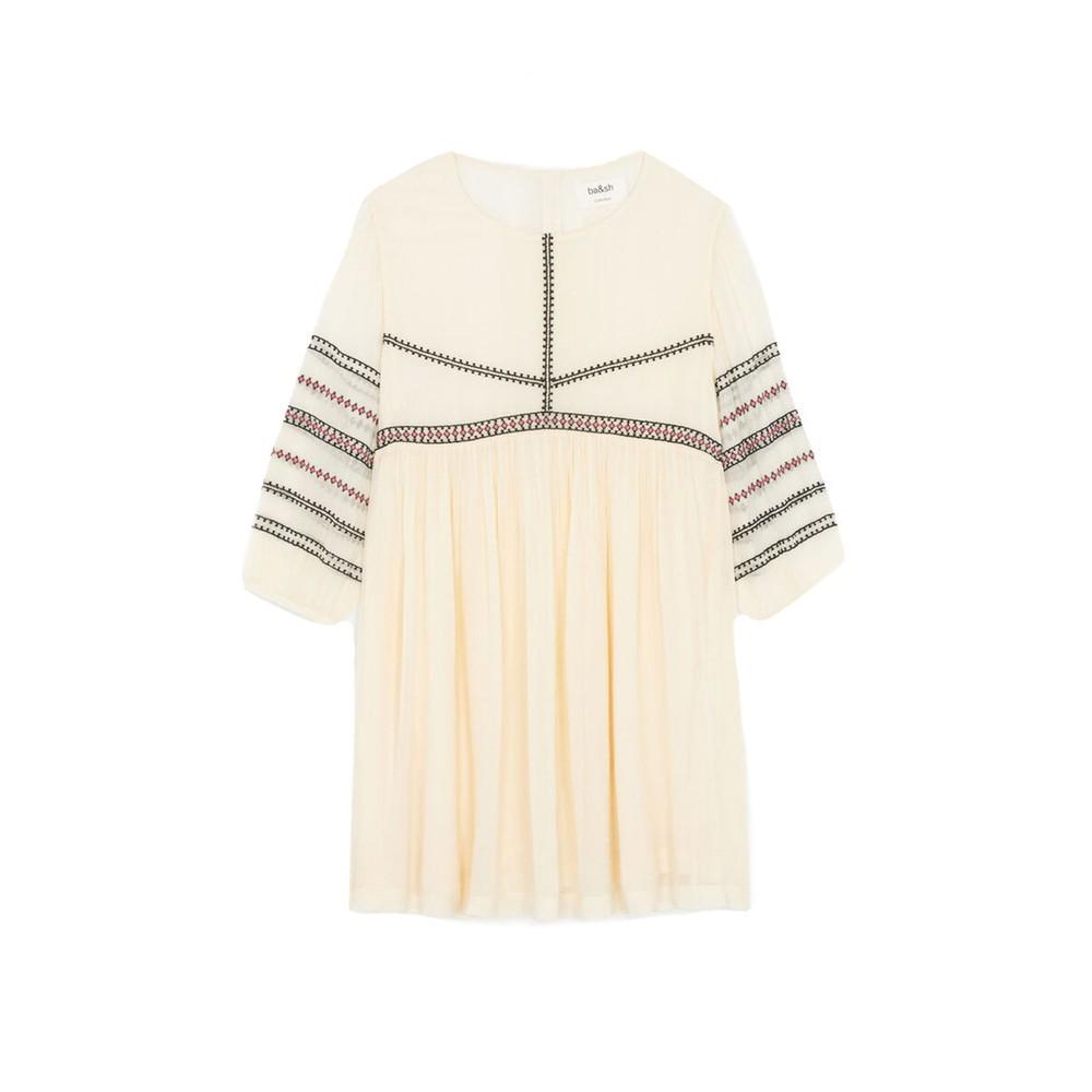 Ba&sh Colombe Dress in Ecru White