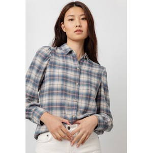 Rails Angelica Puff Sleeve Blouse in Natural Marine