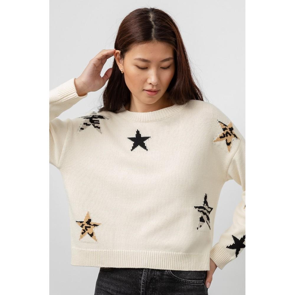 Rails Perci Sweater in Neutral Animal Star Cream