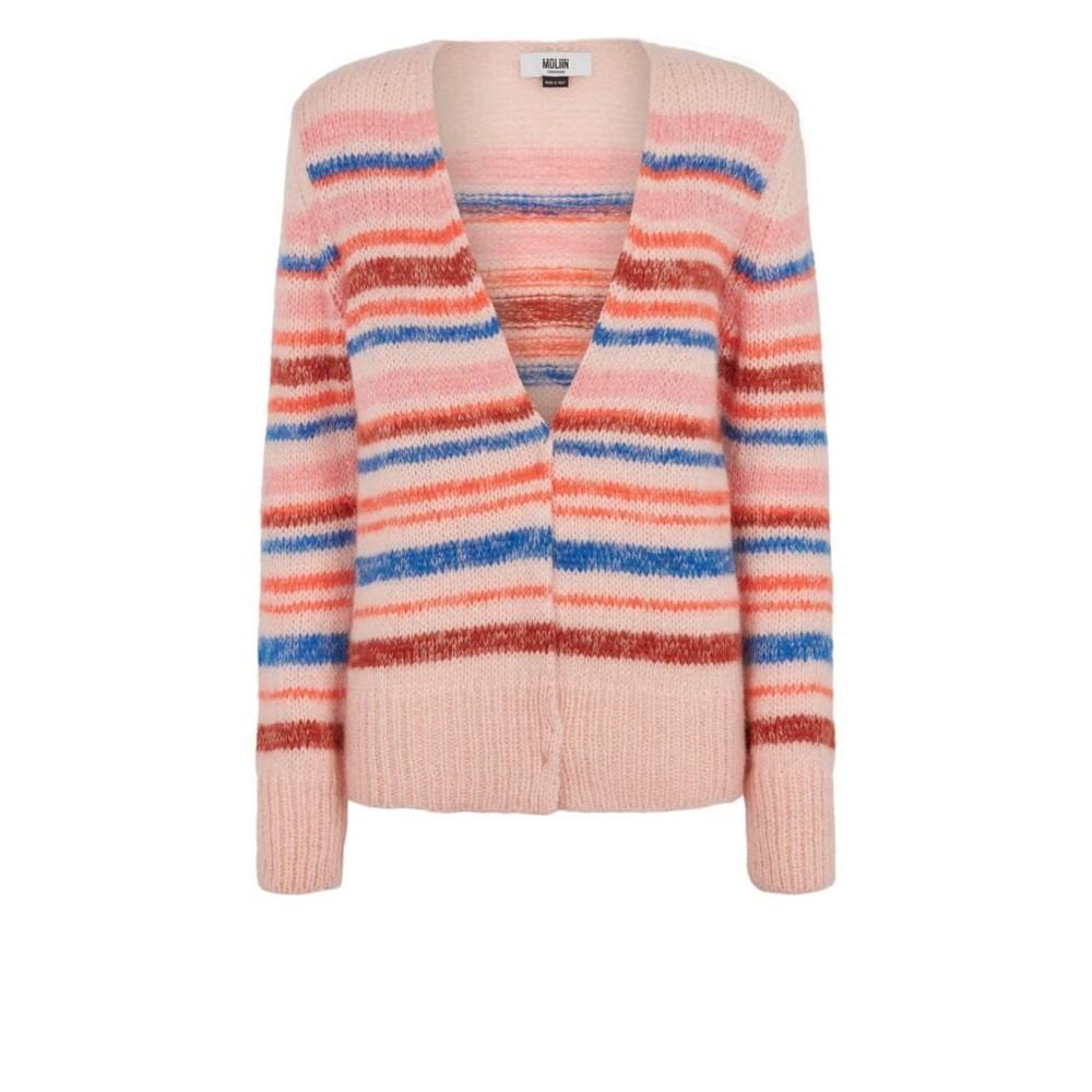 Moliin Isla Knit Cardigan in Pink Pink