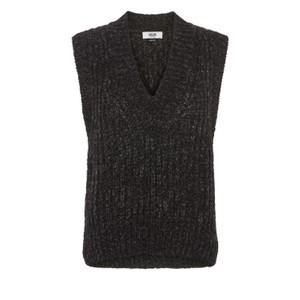 Moliin Marley Sleeveless Knit in Charcoal