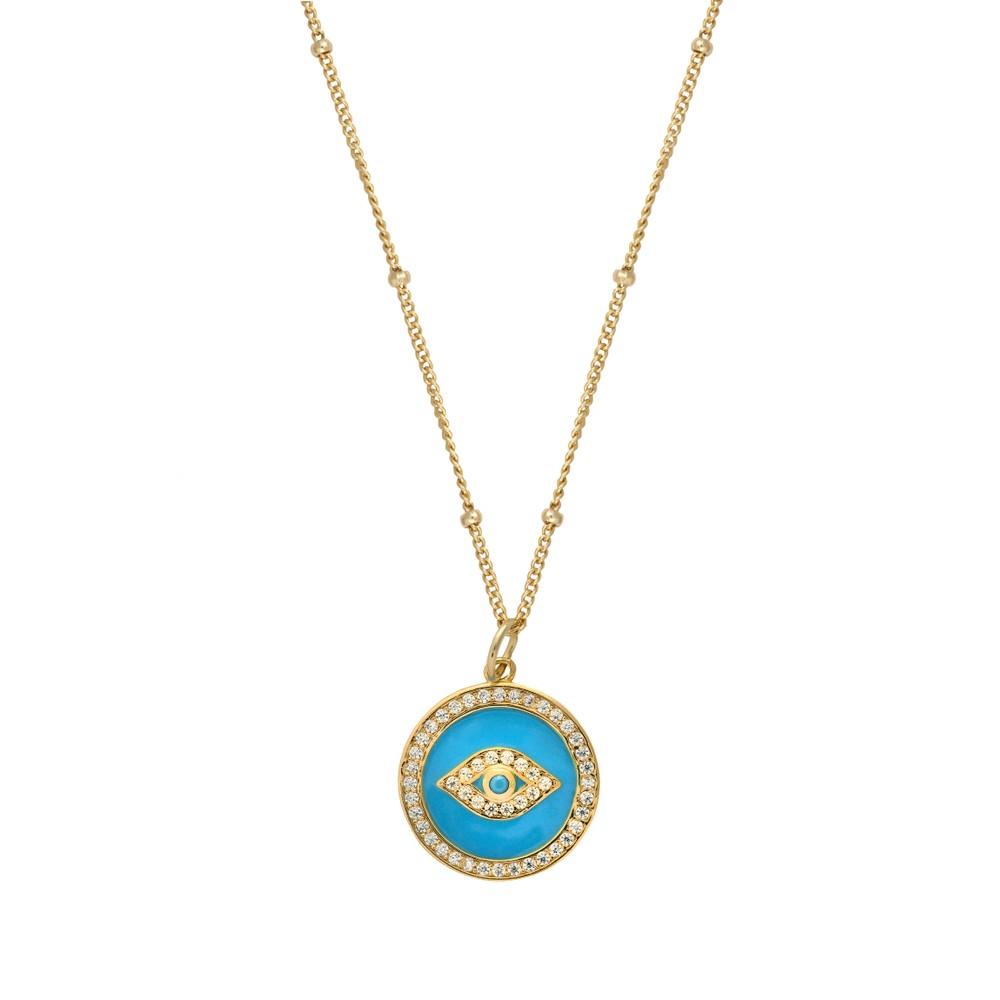 Atelier18 Evil Eye Necklace Gold
