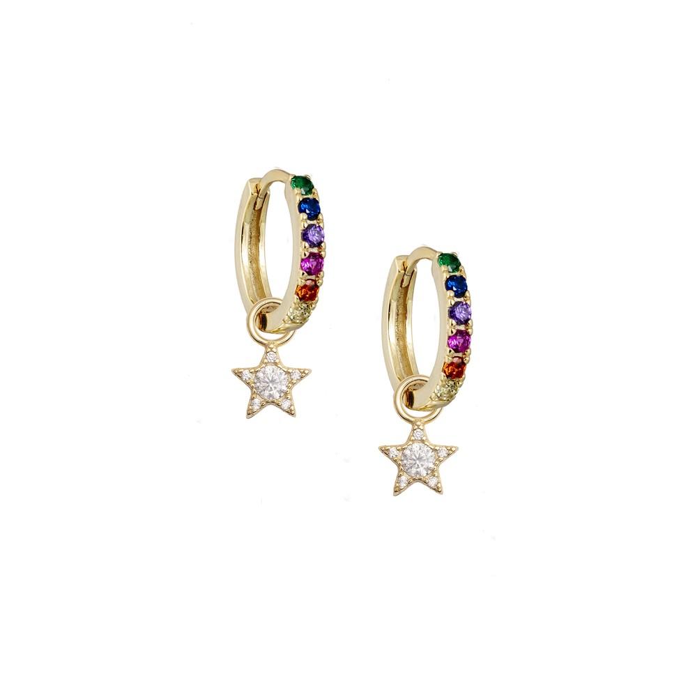 Atelier18 Rainbow Midi with Zirconia Star Charm Multicoloured