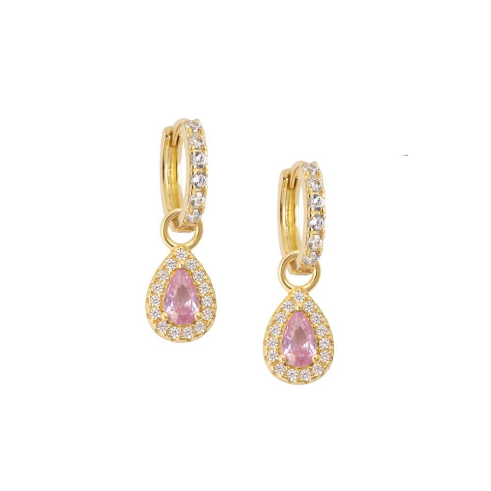 Atelier18 Zirconia Midi with Pink Teardrop Gold