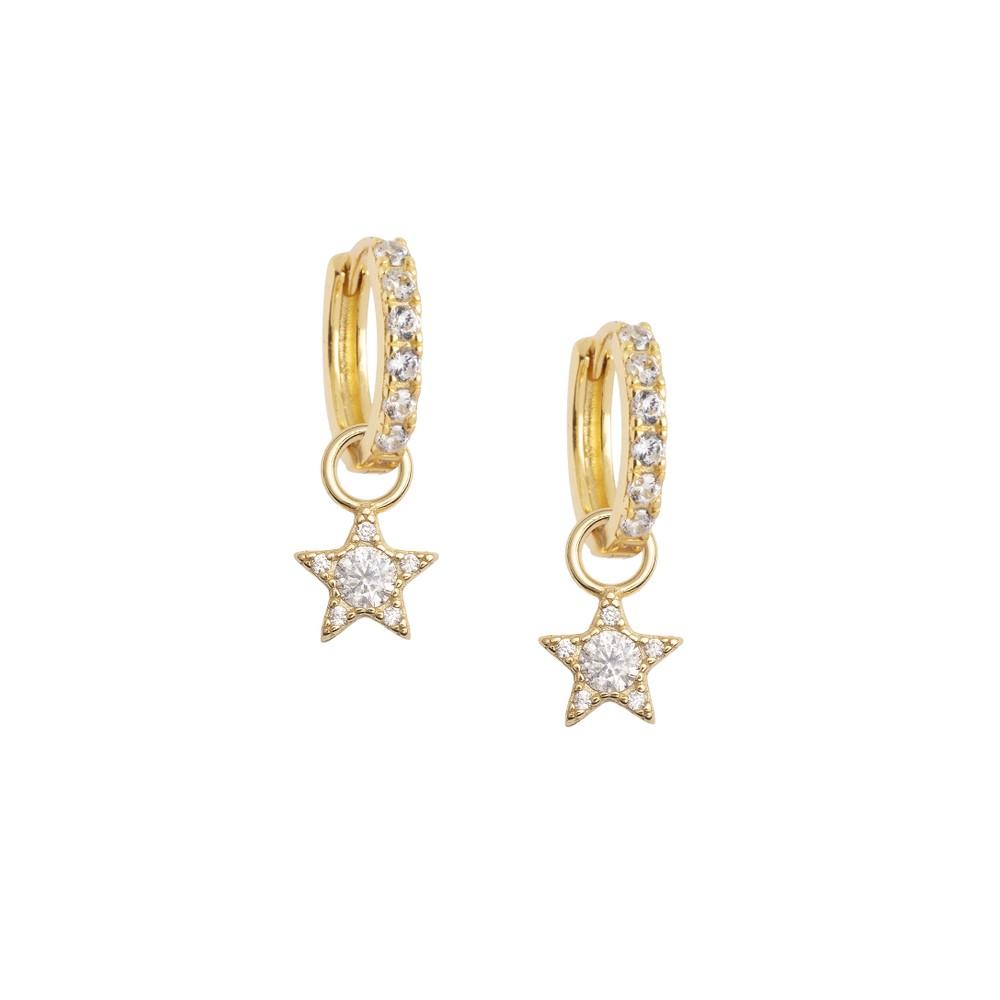 Atelier18 Zirconia Midi with Zircon Star Charm Gold