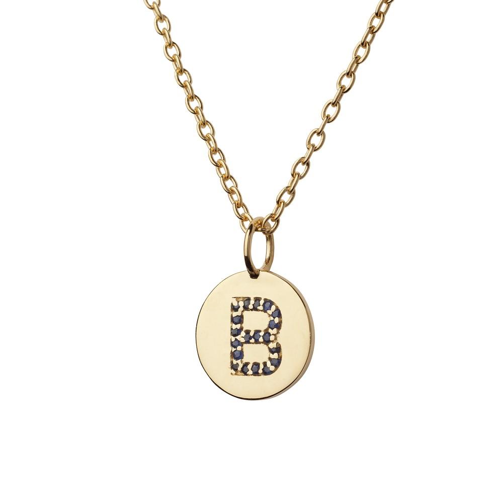 Atelier18 Alphabet Pendant B Gold