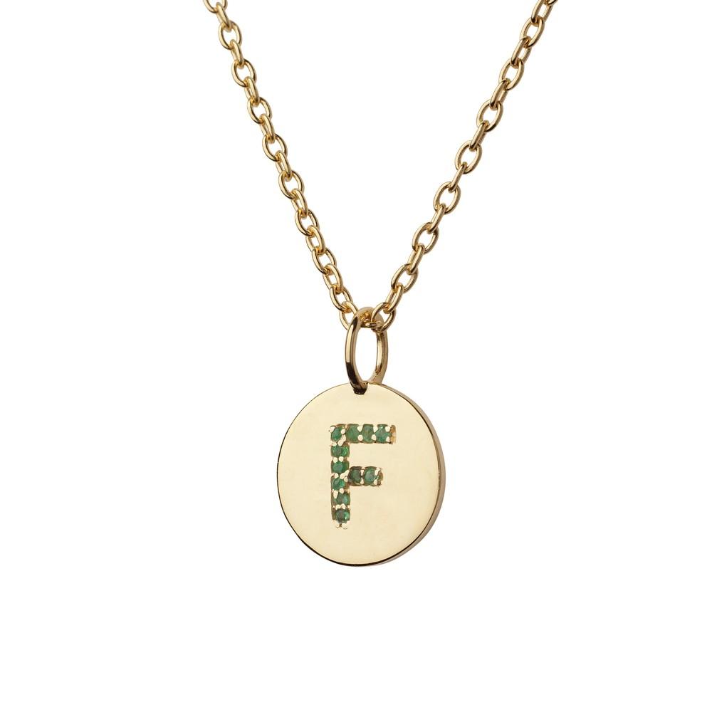 Atelier18 Alphabet Pendant F Gold