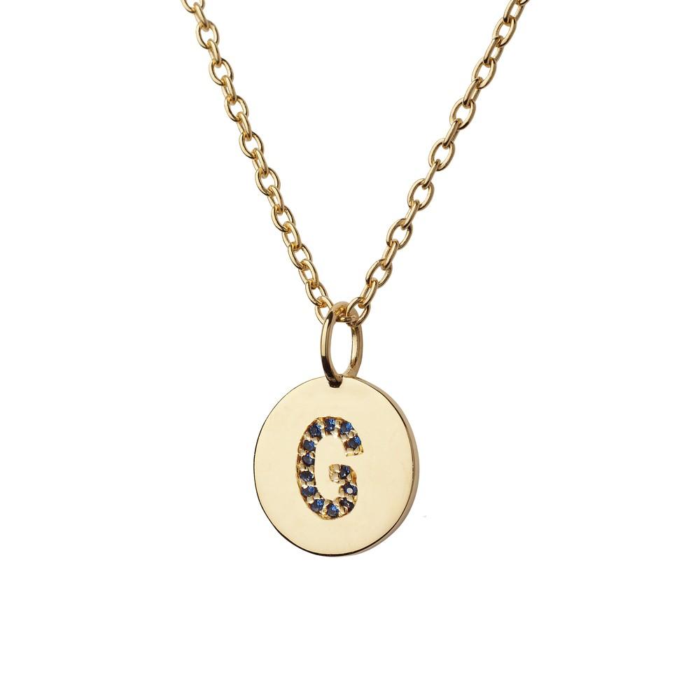 Atelier18 Alphabet Pendant G Gold