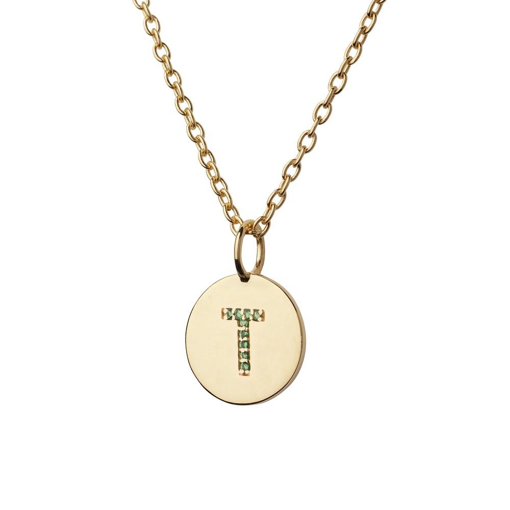 Atelier18 Alphabet Pendant T Gold
