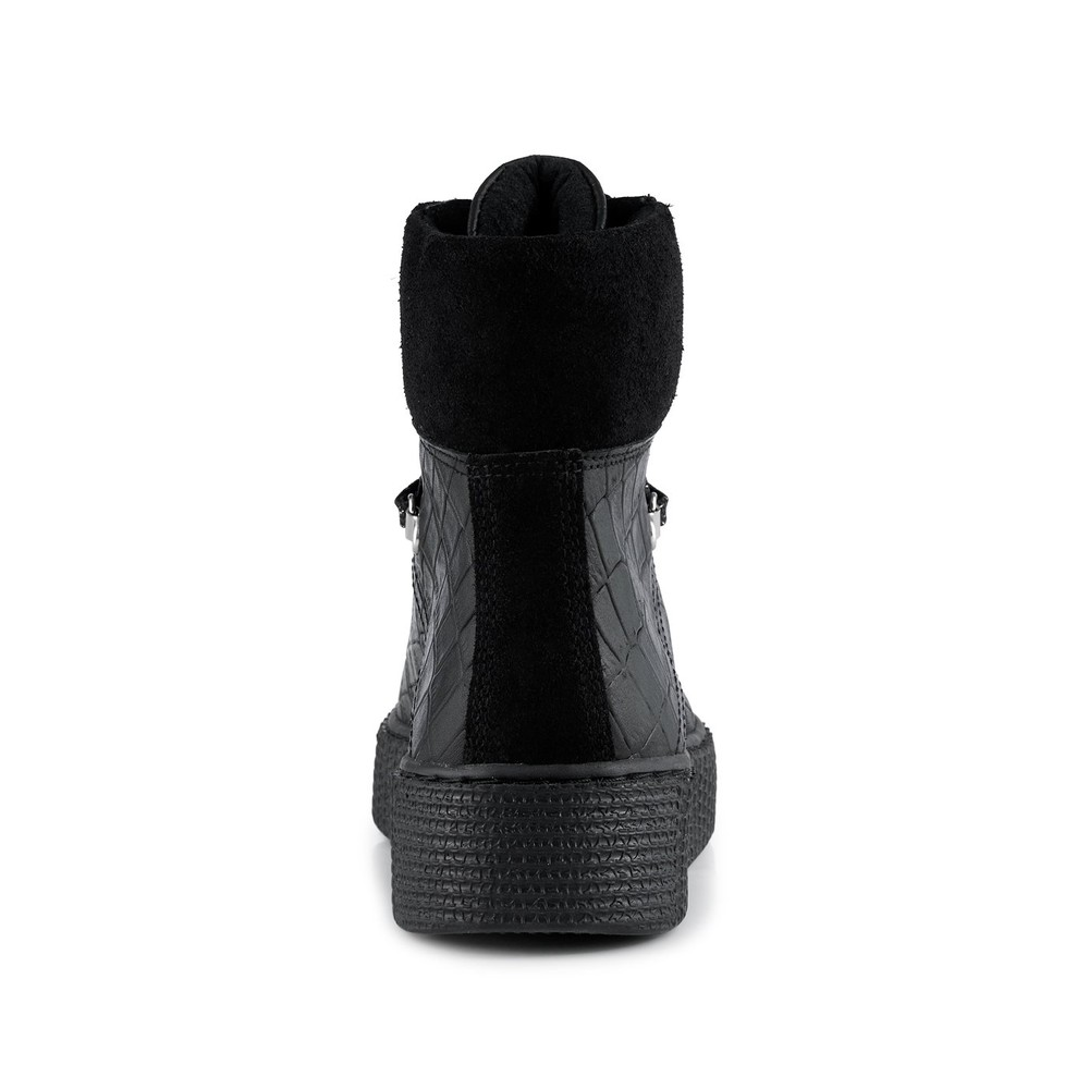 Shoe The Bear Agda Croc Boot Black