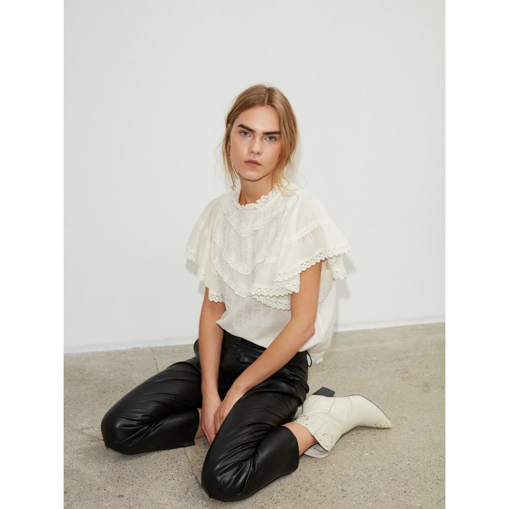 Sofie Schnoor Frill Blouse S213202 in Ecru Cream