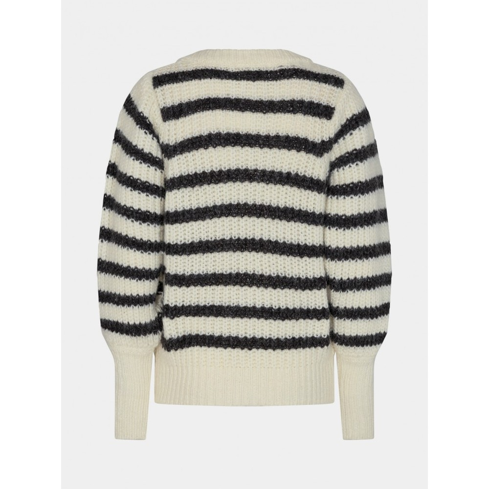Sofie Schnoor Striped Knit S213227 Black and White