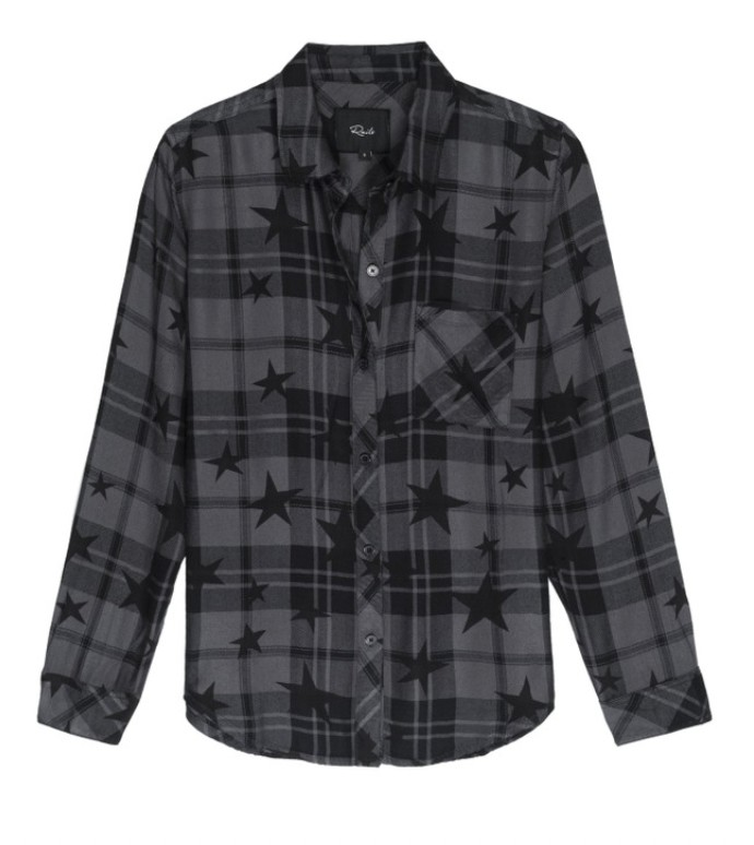 Rails Hunter Ash Twilight Shirt Black