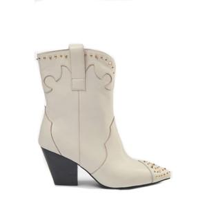 Sofie Schnoor Boots with golden rivet S213710 in off white