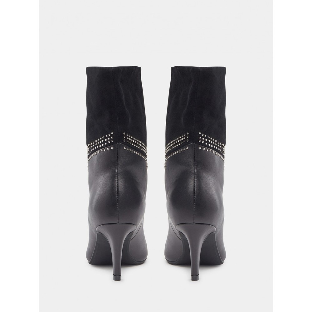 Sofie Schnoor Suede and Leather Boots S213711 Black
