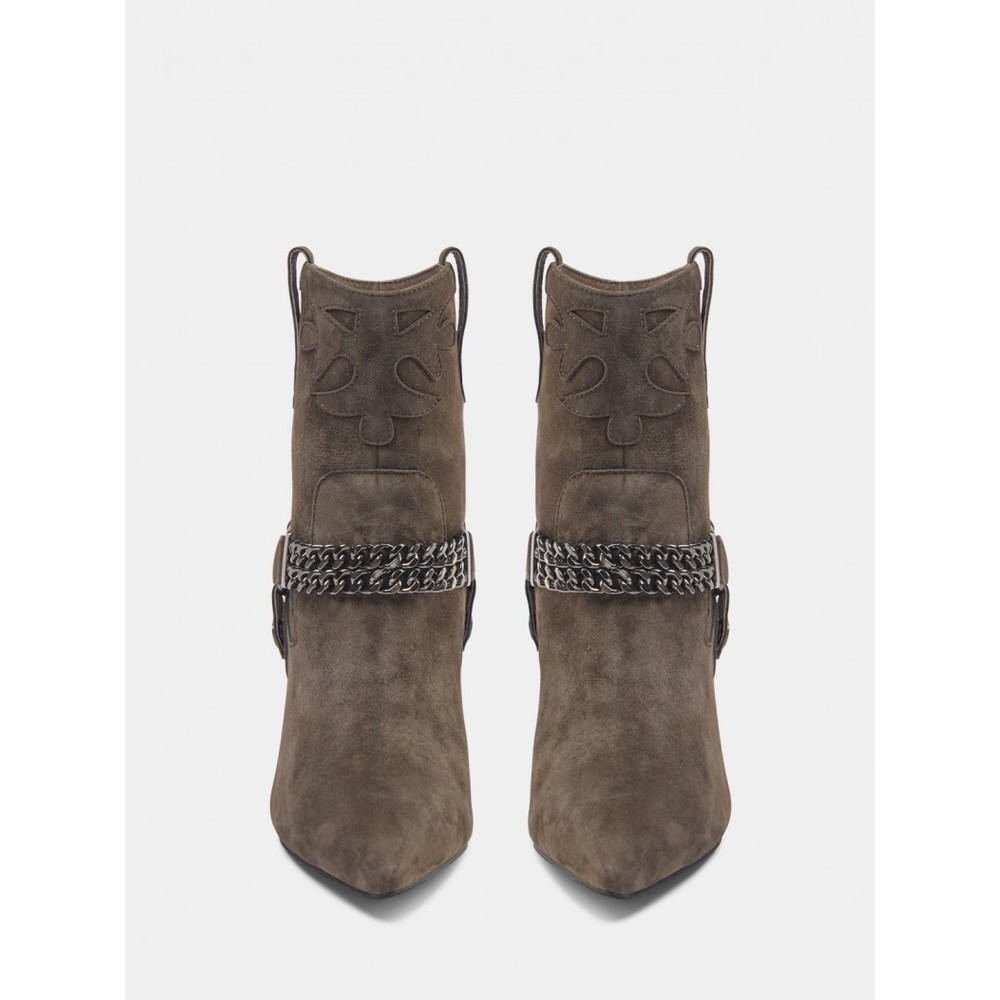 Sofie Schnoor Suede Chain Ankle Boots S213761 Brown