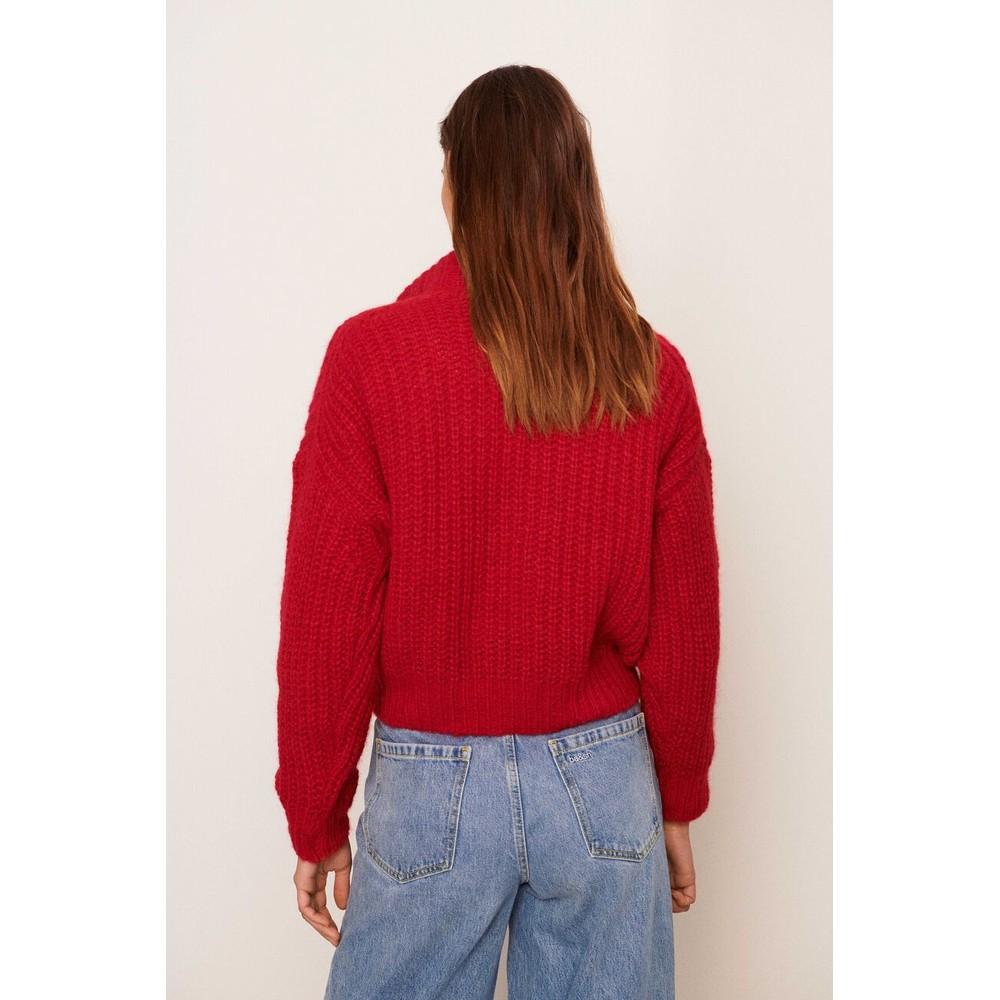 Ba&sh Beltan Jumper in Rouge Red