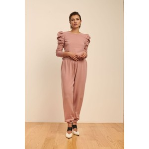 Madeleine Thompson Morgins Cashmere Track Pants in Pink