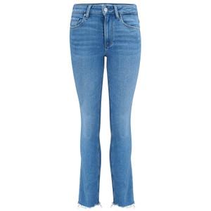 Paige Cindy Raw Hem Denim Jeans in Music Distressed