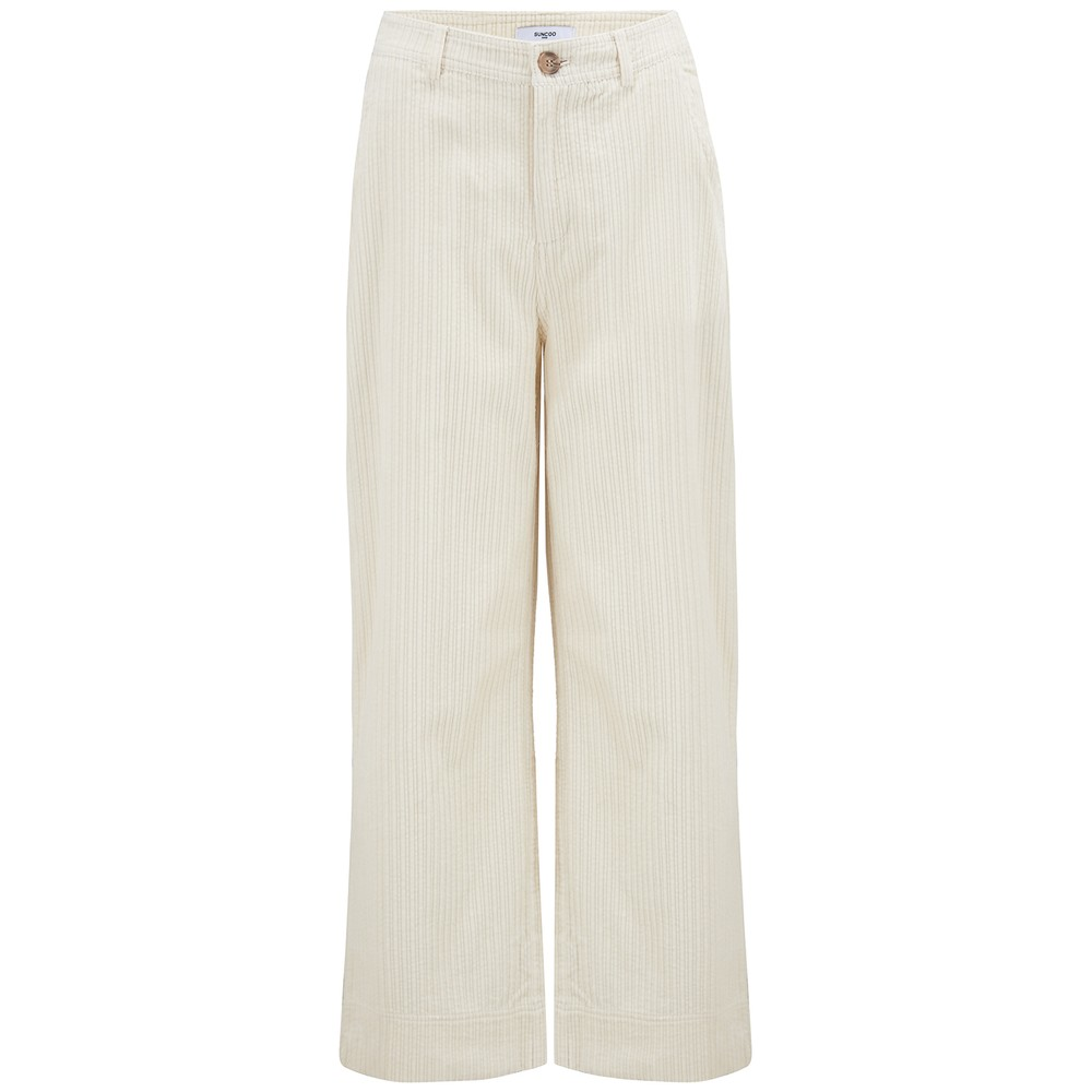 Suncoo Jason Corduroy Pants Off-White