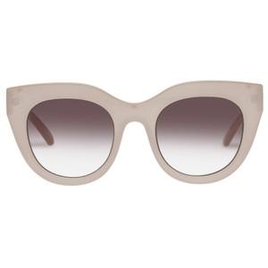 Le Specs Air Heart Sunglasses in Oatmeal
