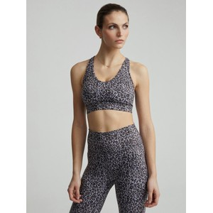 Varley Let's Move Sports Bra in Brushed Leopard