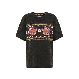 Hayley Menzies Aztec Tiger T Shirt in Dark Grey