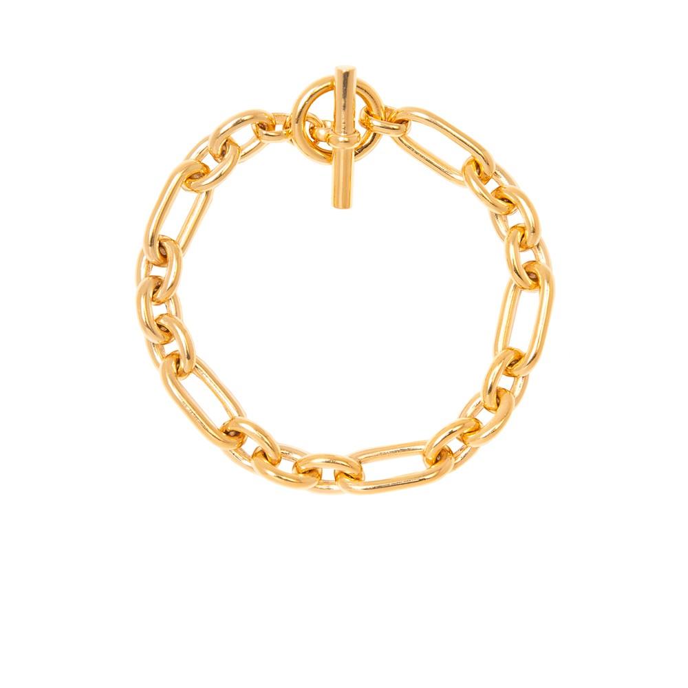 Tilly Sveaas Triple Linked Bracelet in Gold Gold
