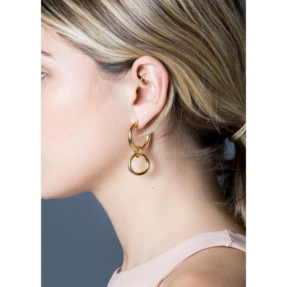 Tilly Sveaas Medium Gold Eternity Earrings Gold