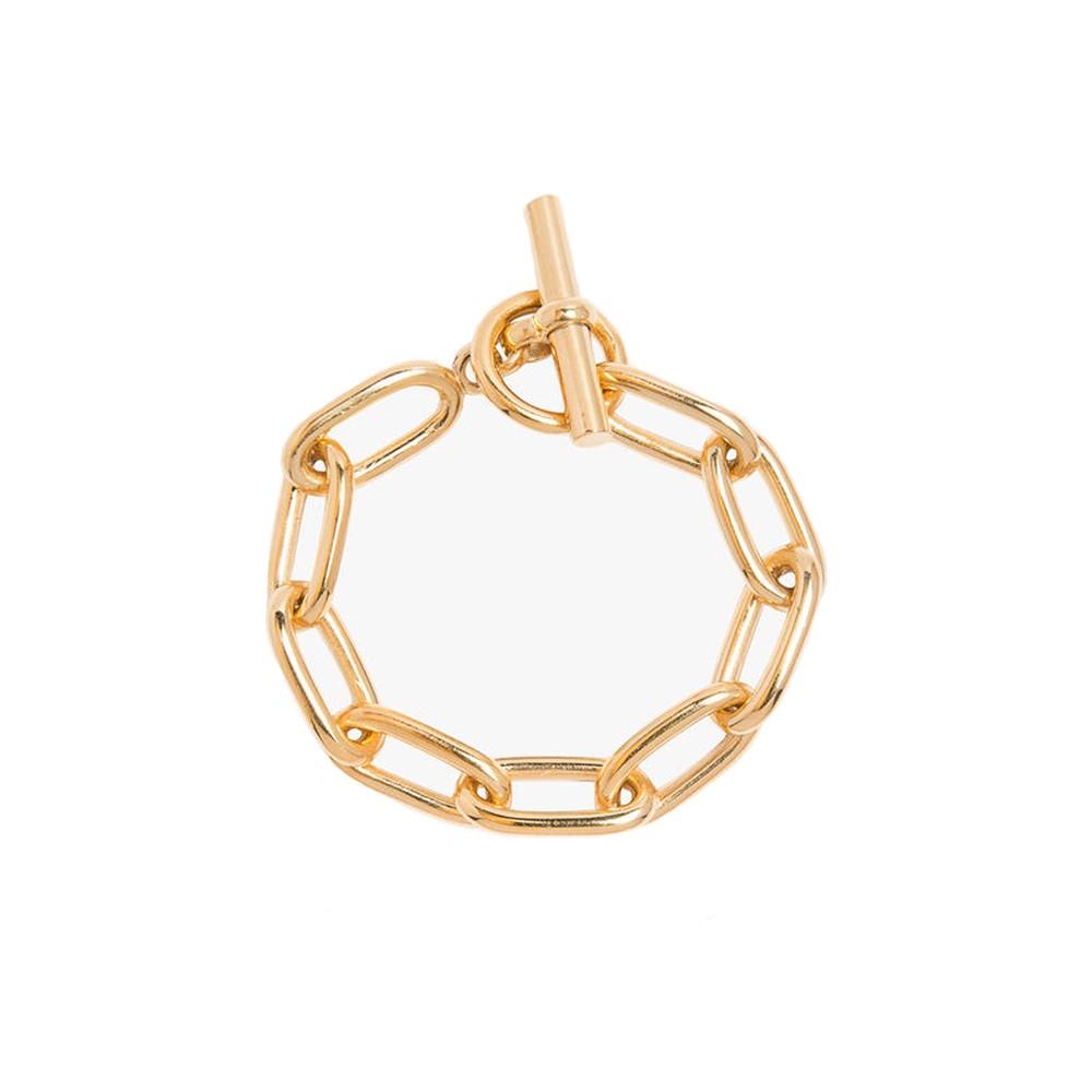 Tilly Sveaas Medium Gold Oval Linked Bracelet Gold