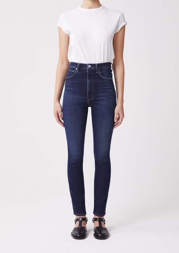 Agolde Pinch Waist Jeans in Ovation Mid Denim