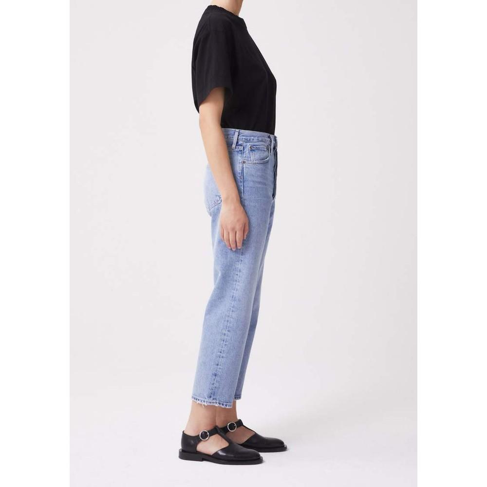 Agolde 90s Crop Jeans in Replica Light Denim