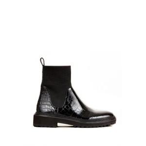 Loeffler Randall Bridget Chelsea Boots in Black Croc