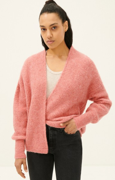 American Vintage East Cardigan in Tendresse Chine Pink